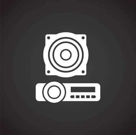 Car tuning related icon on background for graphic and web design. Creative illustration concept symbol for web or mobile app. Vecteurs