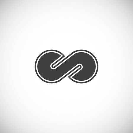 Infinity sign icon on background for graphic and web design. Creative illustration concept symbol for web or mobile app