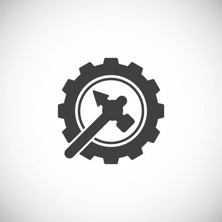 Fix and service related icon on background for graphic and web design. Creative illustration concept symbol for web or mobile app