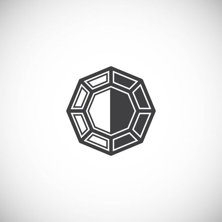Gem stone icon on background for graphic and web design. Creative illustration concept symbol for web or mobile app