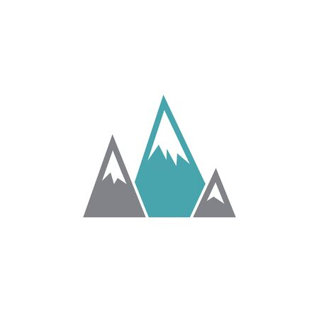 Mountain related icon on background for graphic and web design. Creative illustration concept symbol for web or mobile app