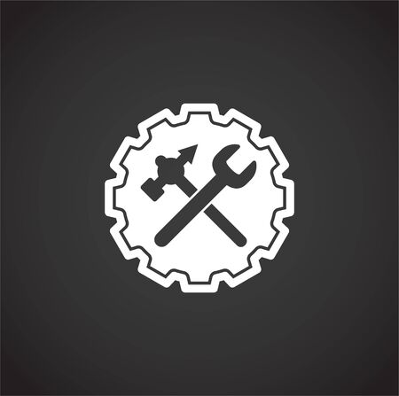 Fix and service related icon on background for graphic and web design. Creative illustration concept symbol for web or mobile app Vettoriali