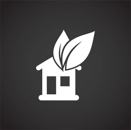 Eco friendly related icon on background for graphic and web design. Creative illustration concept symbol for web or mobile app Vetores