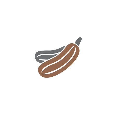 Vegetable related icon on background for graphic and web design. Creative illustration concept symbol for web or mobile app