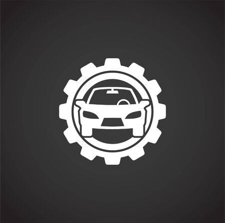 Car tuning related icon on background for graphic and web design. Creative illustration concept symbol for web or mobile app.