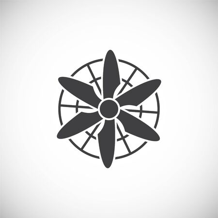 Fan icon on background for graphic and web design. Creative illustration concept symbol for web or mobile app Vettoriali