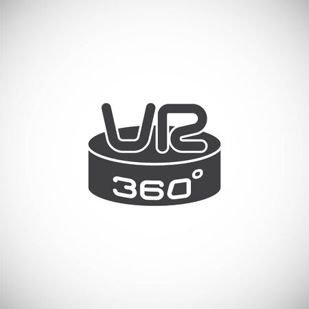 Virtual reality VR related icon on background for graphic and web design. Creative illustration concept symbol for web or mobile app