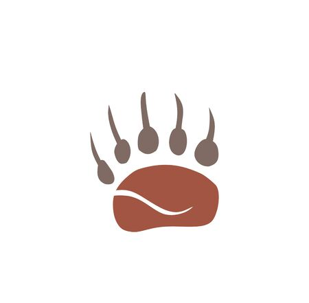 Animal foot print icon on background for graphic and web design. Creative illustration concept symbol for web or mobile app. Illustration