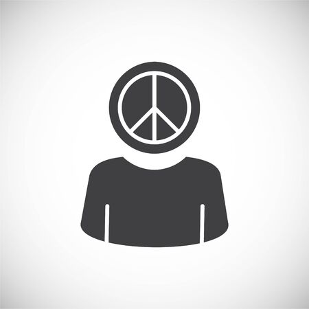 Activism related icon on background for graphic and web design. Creative illustration concept symbol for web or mobile app.