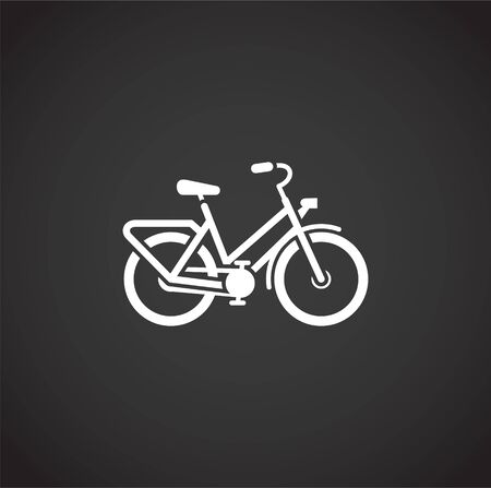 Bicycle related icon on background for graphic and web design. Creative illustration concept symbol for web or mobile app.