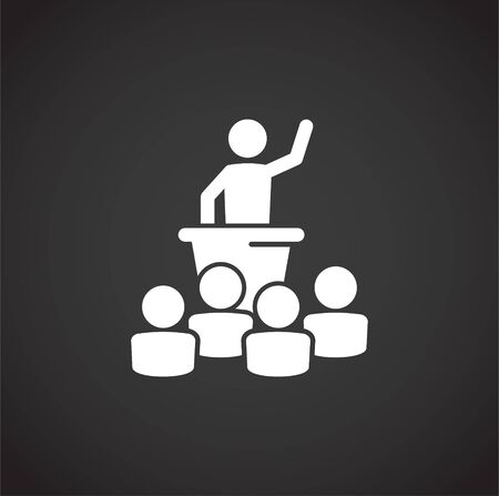 Activism related icon on background for graphic and web design. Creative illustration concept symbol for web or mobile app