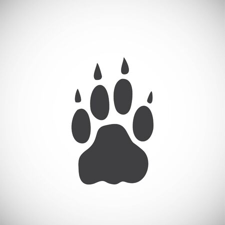 Animal foot print icon on background for graphic and web design. Creative illustration concept symbol for web or mobile app. 일러스트