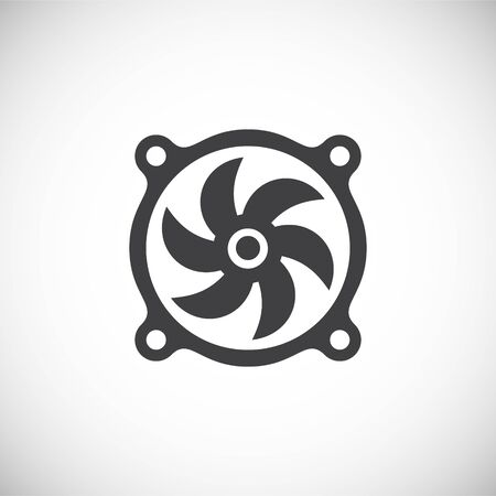 Fan icon on background for graphic and web design. Creative illustration concept symbol for web or mobile app  イラスト・ベクター素材