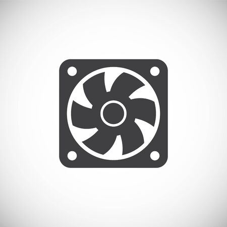 Fan icon on background for graphic and web design. Creative illustration concept symbol for web or mobile app.