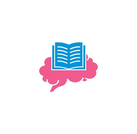 Human brain related icon on background for graphic and web design. Creative illustration concept symbol for web or mobile app