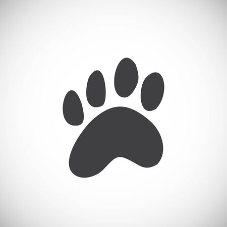 Animal foot print icon on background for graphic and web design. Creative illustration concept symbol for web or mobile app.