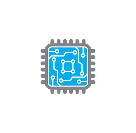 Circuit related icon on background for graphic and web design. Creative illustration concept symbol for web or mobile app. Vektoros illusztráció