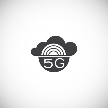 5G related icon on background for graphic and web design. Creative illustration concept symbol for web or mobile app.