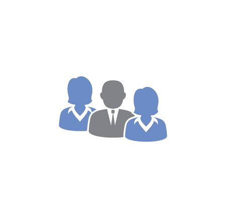 Business people related icon on background for graphic and web design. Creative illustration concept symbol for web or mobile app Vettoriali