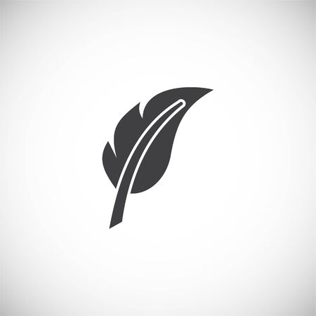 Feather icon on background for graphic and web design. Creative illustration concept symbol for web or mobile app 写真素材 - 143361928