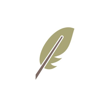 Feather icon on background for graphic and web design. Creative illustration concept symbol for web or mobile app 写真素材 - 143362363