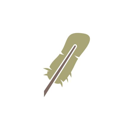 Feather icon on background for graphic and web design. Creative illustration concept symbol for web or mobile app