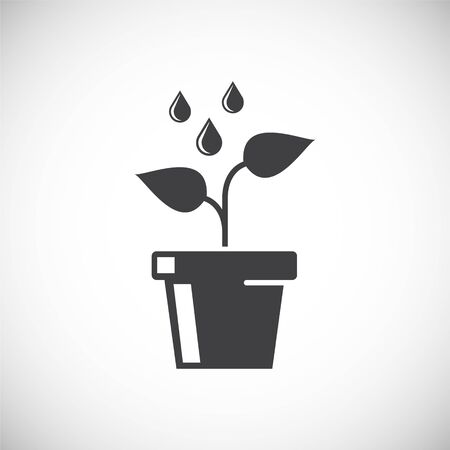 Seed related icon on background for graphic and web design. Creative illustration concept symbol for web or mobile app.