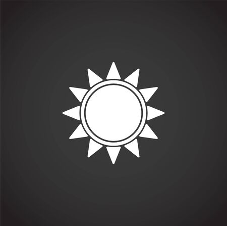 Sun related icon on background for graphic and web design. Creative illustration concept symbol for web or mobile app.