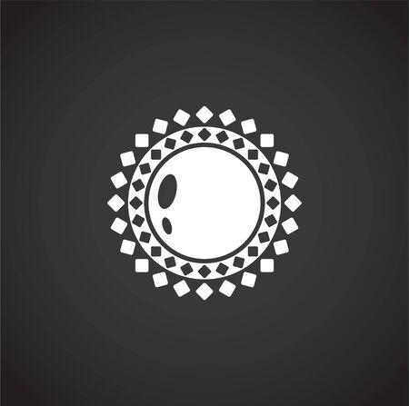 Sun related icon on background for graphic and web design. Creative illustration concept symbol for web or mobile app