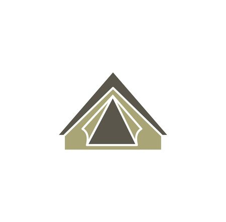 Tent related icon on background for graphic and web design. Creative illustration concept symbol for web or mobile app.
