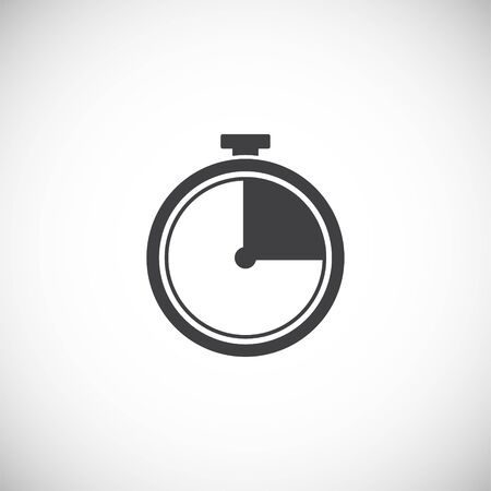 Stopwatch related icon on background for graphic and web design. Creative illustration concept symbol for web or mobile app