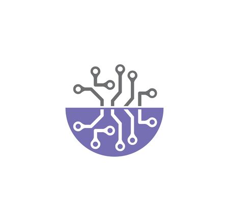 Nano tech related icon on background for graphic and web design. Creative illustration concept symbol for web or mobile app 向量圖像