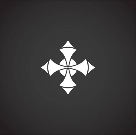 Cross icon on background for graphic and web design. Creative illustration concept symbol for web or mobile app