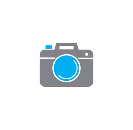 Photography related icon on background for graphic and web design. Creative illustration concept symbol for web or mobile app