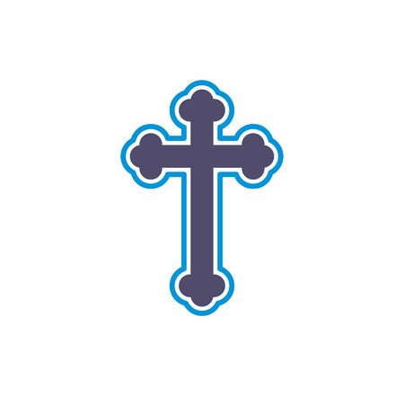 Cross icon on background for graphic and web design. Creative illustration concept symbol for web or mobile app.