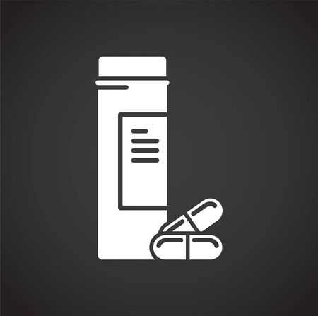 Drugs related icon on background for graphic and web design. Creative illustration concept symbol for web or mobile app.