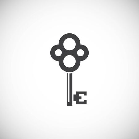 Key icon on background for graphic and web design. Creative illustration concept symbol for web or mobile app.