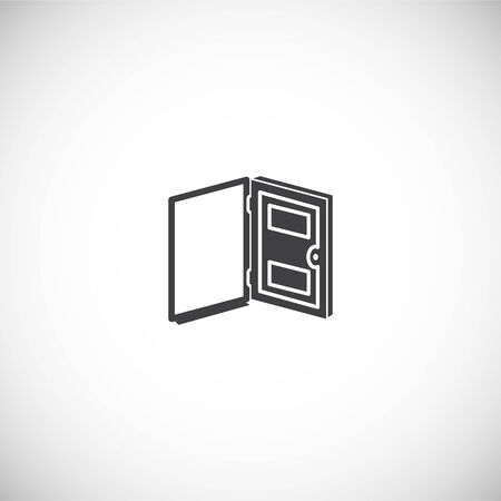 Door icon on background for graphic and web design. Creative illustration concept symbol for web or mobile app