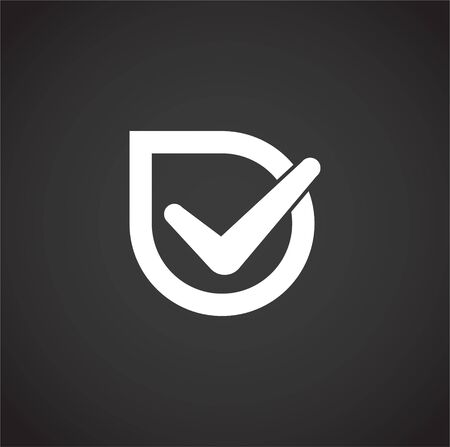 Check box icon on background for graphic and web design. Creative illustration concept symbol for web or mobile app 向量圖像