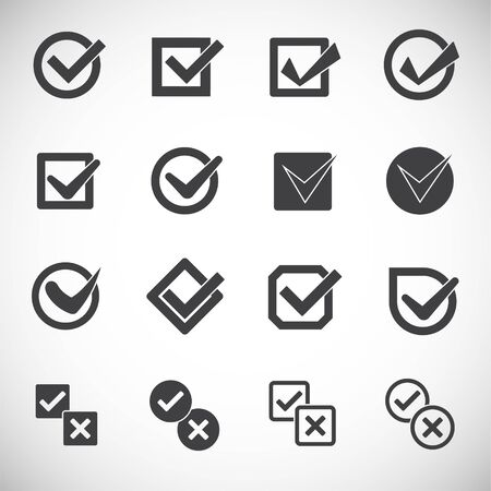 Check box icon set on background for graphic and web design. Creative illustration concept symbol for web or mobile app
