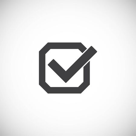 Check box icon on background for graphic and web design. Creative illustration concept symbol for web or mobile app 版權商用圖片 - 144271202