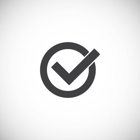 Check box icon on background for graphic and web design. Creative illustration concept symbol for web or mobile app 版權商用圖片 - 144272350
