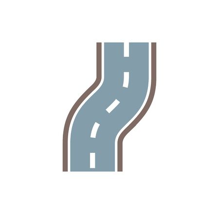 Road related icon on background for graphic and web design. Creative illustration concept symbol for web or mobile app.