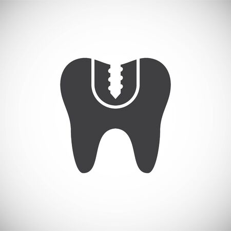 Tooth related icon on background for graphic and web design. Creative illustration concept symbol for web or mobile app