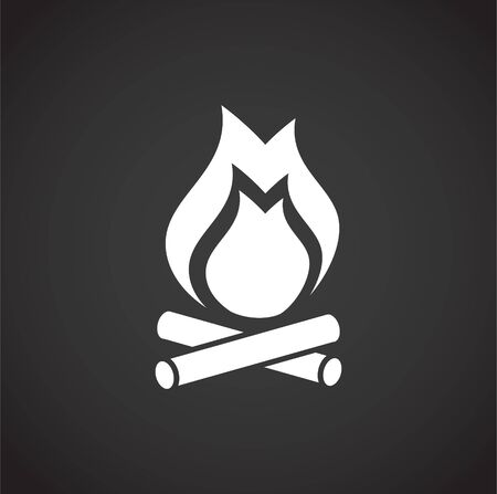 Fire related icon on background for graphic and web design. Creative illustration concept symbol for web or mobile app