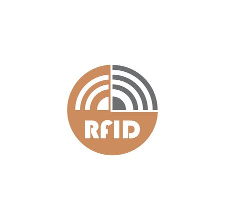 RFID related icon on background for graphic and web design. Creative illustration concept symbol for web or mobile app