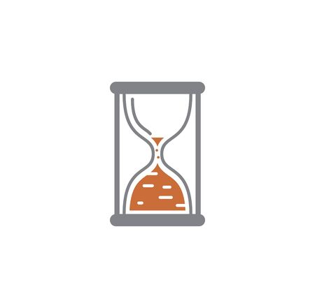 Sand watch related icon on background for graphic and web design. Creative illustration concept symbol for web or mobile app