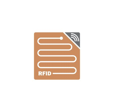 RFID related icon on background for graphic and web design. Creative illustration concept symbol for web or mobile app.