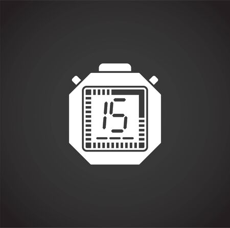 Stopwatch related icon on background for graphic and web design. Creative illustration concept symbol for web or mobile app Illustration