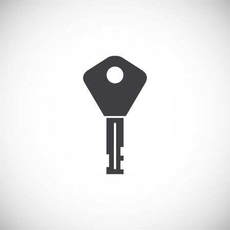 Key icon on background for graphic and web design. Creative illustration concept symbol for web or mobile app  イラスト・ベクター素材